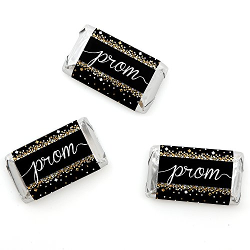 Big Dot of Happiness Prom - Mini Candy Bar Wrappers Prom Night Party Favors - 20 Count ()