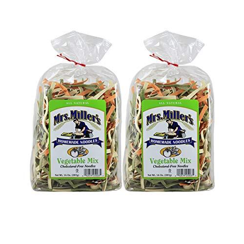 Mrs. Miller's Homemade Vegetable Mix Noodles 14 oz. Bag (2 Bags)