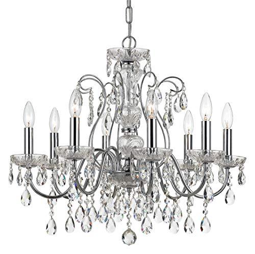 (Elight Design ED05608CH Signature 8 Light 26 inch Chrome Chandelier Ceiling Light)