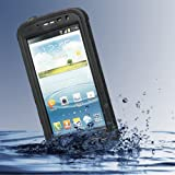 Redpepper Samsung Galaxy Note 2 N7100 / Note II LTE N7105 Waterproof Dirtproof Snowproof Shockproof Case Rugged Protection Cover (Black) by EaseIcon