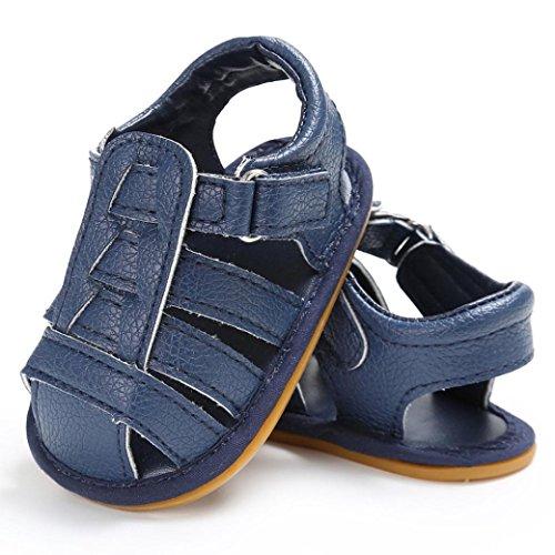 BZLine® Baby Kleinkind Sandalen rutschfest Kleinkind ersten Wanderer Sommer Schuhe Blau