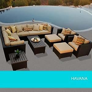 Havana 12 Piece Outdoor Wicker Patio Furniture Set 12A 2 Yr Fade Warranty