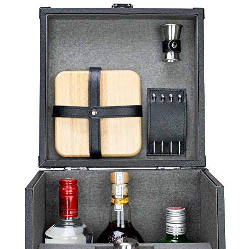 Atterstone 17-Piece Premium Travel Cocktail Set, Portable Bar-Ware Box Kit for Bartenders and Mixologists, Complete Bar Tool Accessories Kit for Hosting Serving and Entertaining by Atterstone (Image #5)