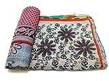 quilt gypsy - Vintage Kantha Quilt Handmade Indian Cotton Bedspread Gypsy Bedding Ralli