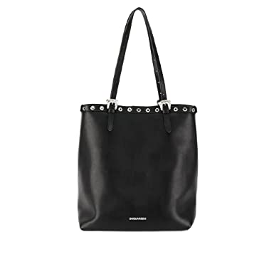 4bbd2e5f2434 Image Unavailable. Image not available for. Colour  Women s Accessories  Dsquared2 Black Nappa Leather Tote Bag Spring Summer 2018