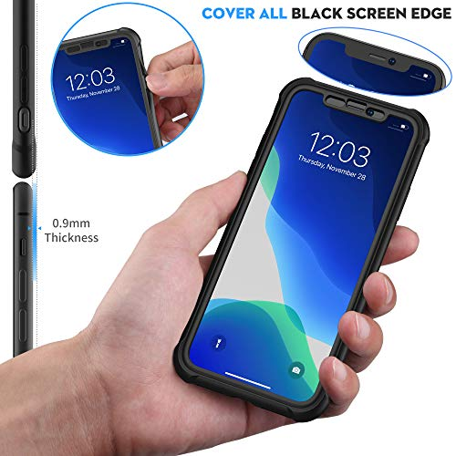 ORETECH Designed for iPhone XR Case, with[2 x Tempered Glass Screen Protector] 360 Full Body Shockproof Anti Scratch…
