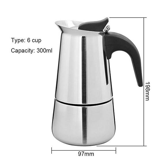 Moka Pot, MMKICC 100ml / 200ml / 300ml / 450ml Cafetera de ...
