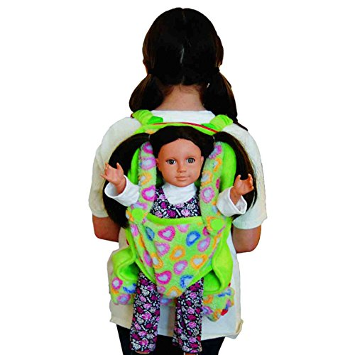 Purple Soft Plush Child Size Backpack with Built-in Doll Carrier and Sleeping Bag for 18 inch and 15 inch Dolls. Fits American Girl Doll. Perfect for a Sleepover or Slumber Party.