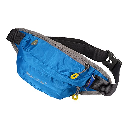 XCSOURCE Tanluhu il pacchetto della vita, sport cinghia di trasmissione regolabile, idrorepellente sweatproof Fanny Pack per camminare jogging in bicicletta Palestra Blu MT411