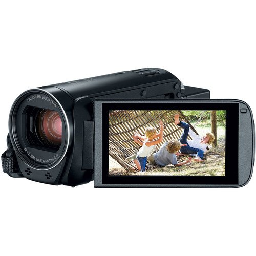 Canon VIXIA HF R800 Full HD Camcorder Bundle, Includes: 64GB SDXC Memory Card, LED Light, Spare Battery and More.
