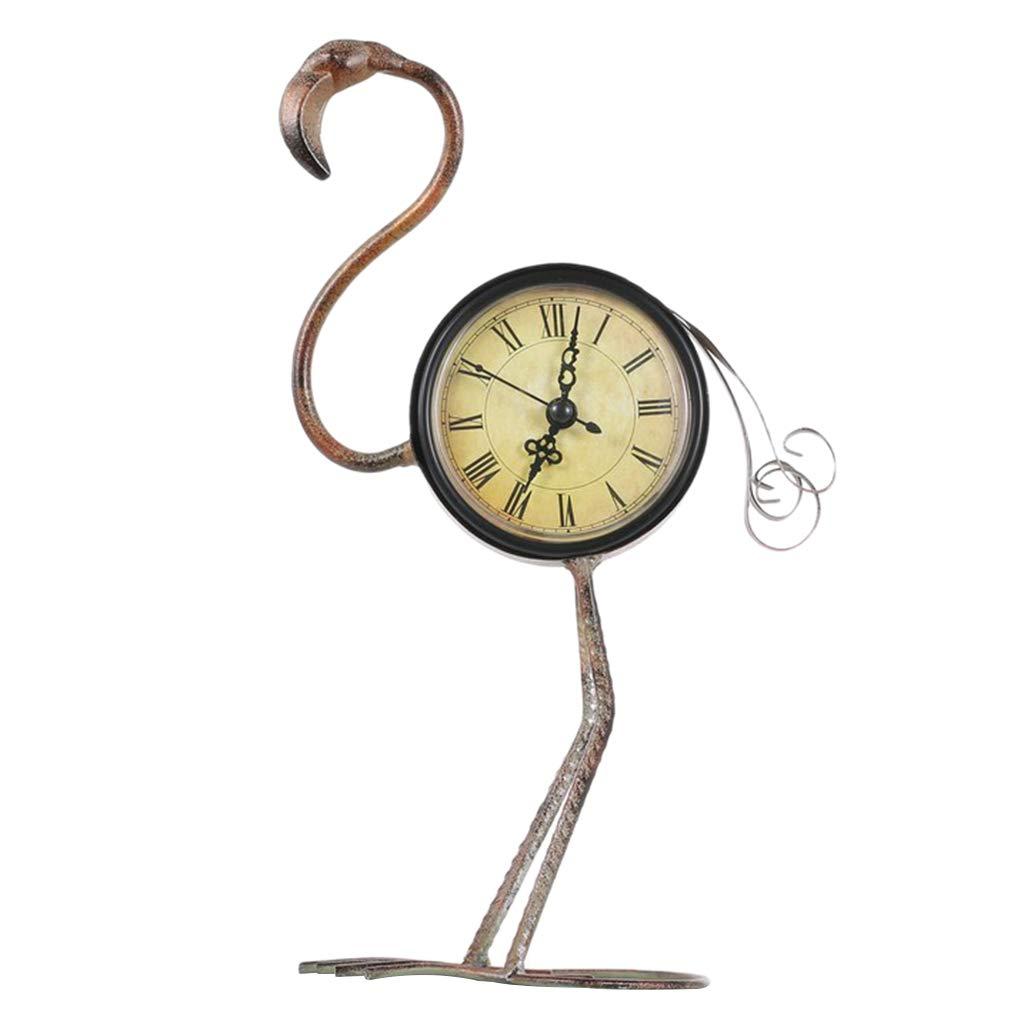 Homyl Reloj de Mesa Modelo Animal Adornos Estatuilla Regalo Aniversario - Flamenco: Amazon.es: Hogar