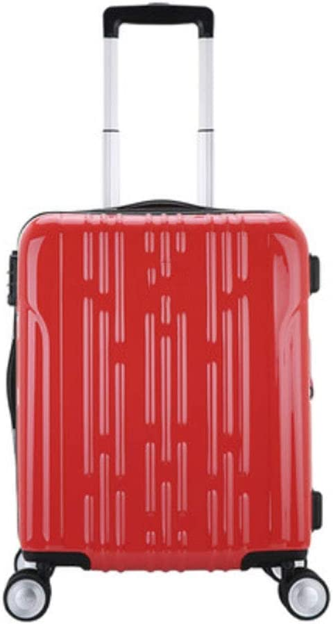 HUANGDA Ultra Lightweight ABS Hard Luggage Trolley Bag-Carry On Travel Suitcase//Built in Lock//4 Wheels Spinner-Telescopic Handle Color : G, Size : 20 inches