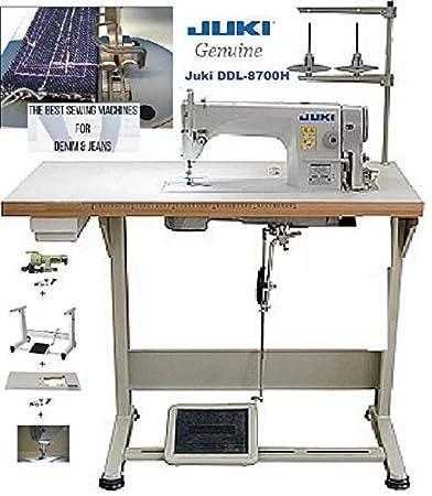 Juki DDL-8700-H máquina de coser industrial de punto recto, mesa ...