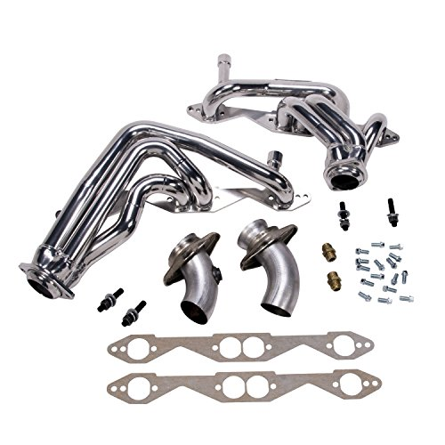 BBK Performance Parts 1595 Shorty Tuned Length Exhaust Header Kit CNC-Series Performance CNC Mandrel Bent 1.625 in. Tubing Direct Fit Design Incl. New Gaskets/Hardware Chrome Shorty Tuned Length Exhaust Header -