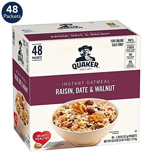 Oatmeal Raisin Crisp - Quaker Quaker Instant Oatmeal Raisin, Date, Walnut 48ct, 48 Count