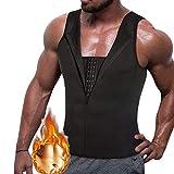 HuntDream Mens Shapewear Body Shaper Tank Top Tummy Control Girdle Waist Trimmer