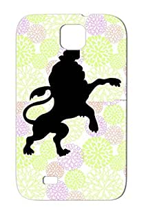 Lion Emblem Black Art Design Lion Illustration Royalty Crown Noble Nobility Heraldry King Rex Polo Paw Case Cover For Sumsang Galaxy S4
