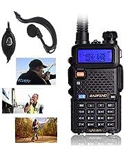 UV-5R Two-Way Radio, Dual Band UHF/VHF Ham 136-174/400-520MHz Transceiver - 2 Pack