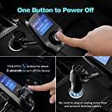 VicTsing Upgraded Bluetooth FM Transmitter for Car, Power Off Switch, Music Player Support USB Flash Drive /Micro SD Card /AUX Input, Wireless Radio Transmitter with 1.44 Display ,USB Charger