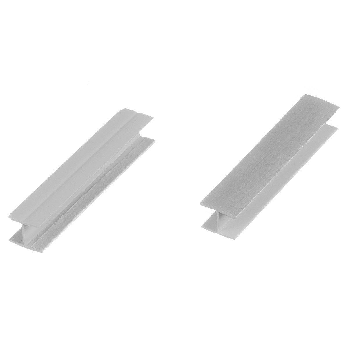 HOLZBRINK Conector para el Montaje del Z/ócalo para Cocina de M/ódulos HBK10 Altura 100 mm aluminio cepillado