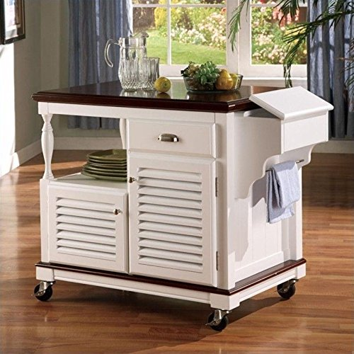 Coaster Traditional Kitchen Cart, White