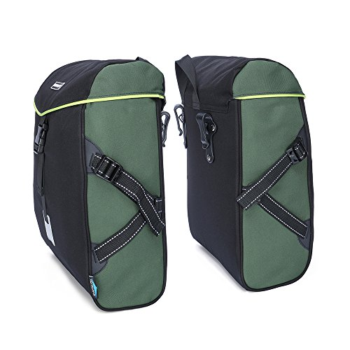 Bike Pannier Bag Durable Tote Bag Zipper Pockets Shoulde Bicycle Rack Trunk Back Seat Package for Outdoor Ride