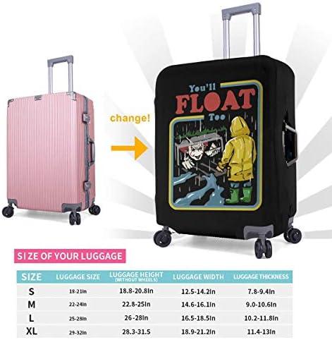 スーツケースカバー キャリーカバー ペニーワイズ ラゲッジカバー トランクカバー 伸縮素材 かわいい 洗える トラベルダストカバー 荷物カバー 保護カバー 旅行 おしゃれ S M L XL 傷防止 防塵カバー 1枚