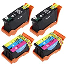 YDINK 4 Pack Compatible Dell Series 21 22 23 24 ink cartridge FOR P513w P713w Photo All-in-One V515w V715w V313 V313w All-in-One Printer