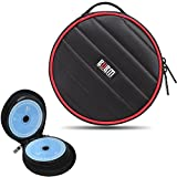 32 Capacity CD/DVD Wallet, 230D Space Twill Cover, Round Shape - Black