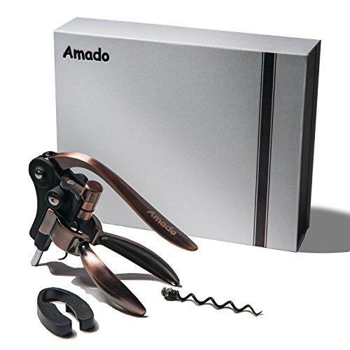 Rabbit Corkscrew, Amado Rabbit Wine Opener Stainless Steel Red Wine Bottle Opener Tool Kit by Amado