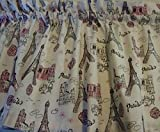 Cheap Valance French Paris Eiffel Tower Window Treatment Topper Custom Made Pink Silver White