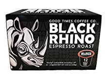 Black Rhino Espresso Roast Coffee, Single Serve Cups for Keurig K-Cup Brewers, 36 Count