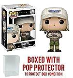Funko Pop! Movies: Alien Covenant - David (Rugged Gear) Vinyl Figure (Bundled with Pop BOX PROTECTOR CASE)