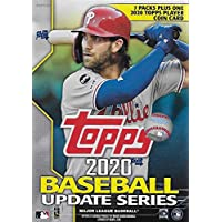 $28 » 2020 Topps Traded and Update Series Baseball Unopened Blaster Box of Packs with 99 Cards…