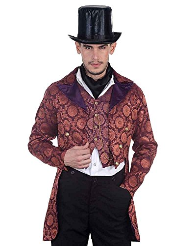Steampunk Victorian Gentleman Opera Coat Costume (Medium)