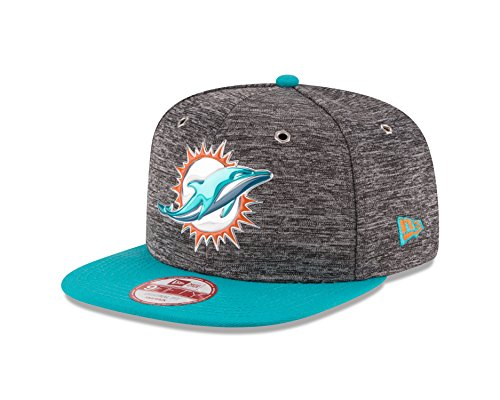 - New Era NFL Miami Dolphins 2016 Draft 9Fifty Snapback Cap, One Size, Heather Gray