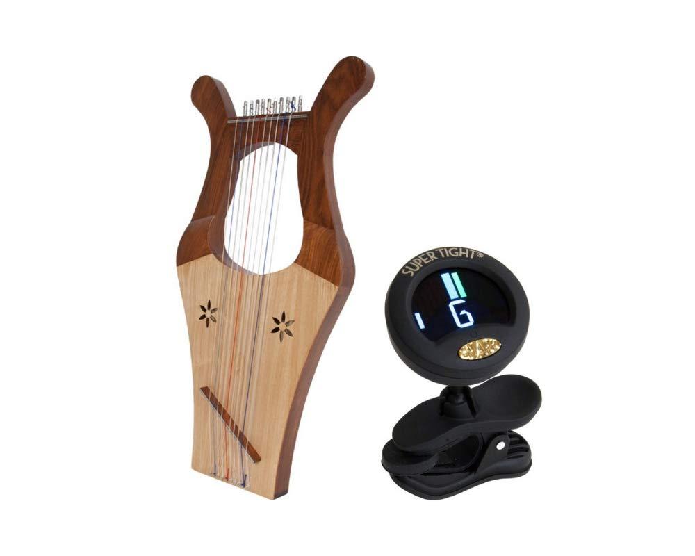 Mini Kinnor Package Includes: Harp 2-tone Color + Chromatic Tuner