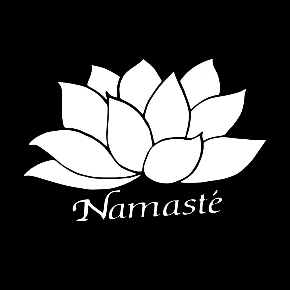 Amazon Namaste Lotus Flower Peace 6 Vinyl Sticker Car Decal 6