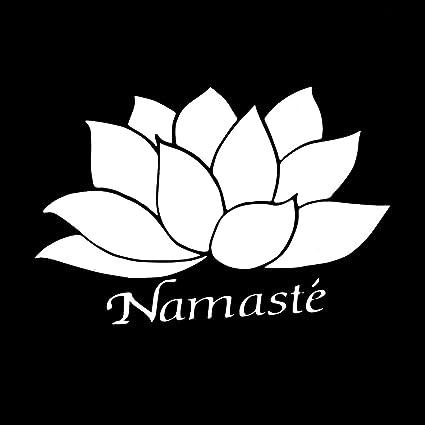 Amazon namaste lotus flower peace 6 vinyl sticker car decal 6 namaste lotus flower peace 6quot vinyl sticker car decal mightylinksfo