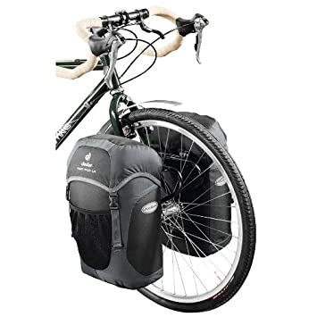 authentic quality meet hot sale Deuter 32458 Bicycle Rack Pack LR 40 x 30 x 18 cm (Black ...