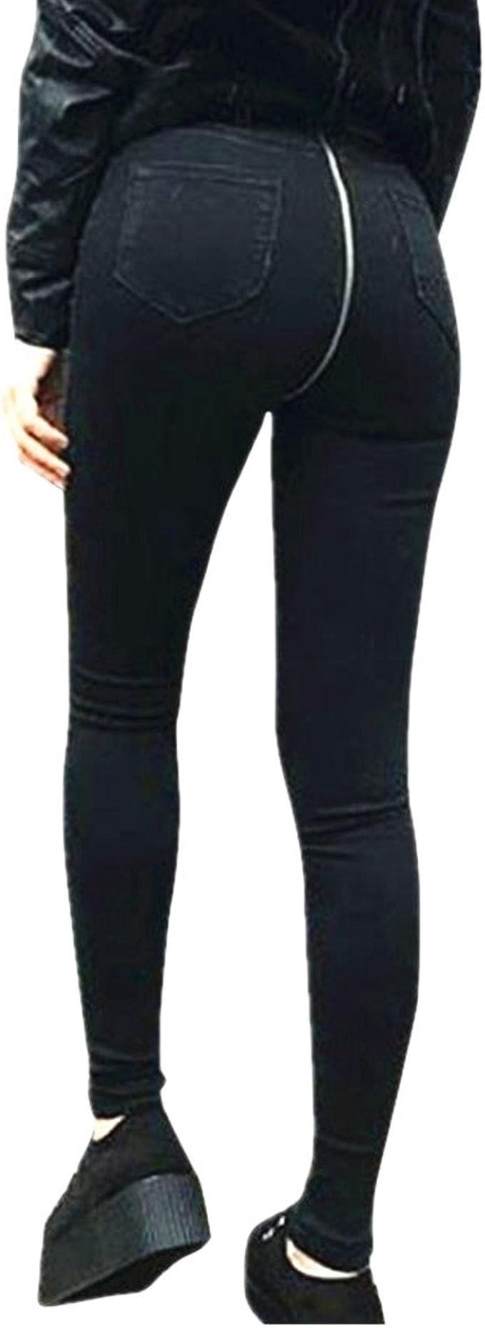 Amazon.com: qisc Mujer jeans de mujer pitillo elástico ...