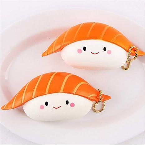 Amazon.com: 1 pieza lindo Salmon Sushi Eric Squeeze Squishy ...