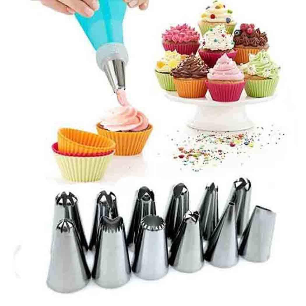Orland Practical Western Kitchen Baking Utensils Stainless Steel Cake Decorating Tool Set (01-Blue)