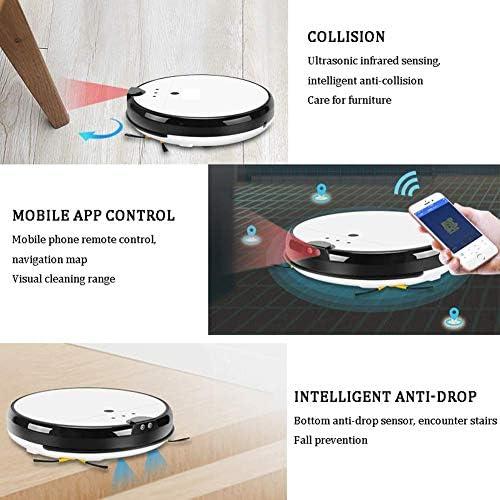 8bayfa BLUCE Robot Aspirateur, App Intelligent Control, Station de Recharge Automatique Vocales, Forte Aspiration, for planchers de Surface Tapis Minces