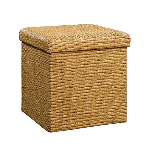 Sauder Soft Modern Sisal Upholstered Storage Ottoman, - Stores Park Ave