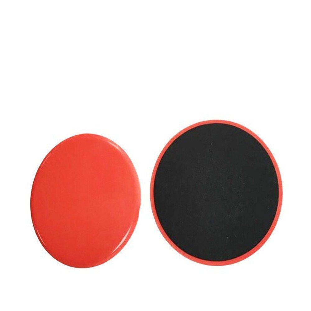 Roblue 2 Pcs Coulisses dexercice Ronde Double Face Slips Curseurs de Base pour Tapis et Sols en ABS 17.8cm