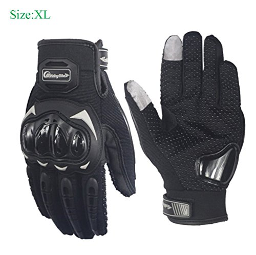 Sourcingbay Tech Touch Gloves Motorcycle Full Finger Riding Gloves Cycling Gloves Mountain Bike Gloves Bicycle Gloves of PU Leather Fit Men and Women for Outdoor Sports(Size: XL)