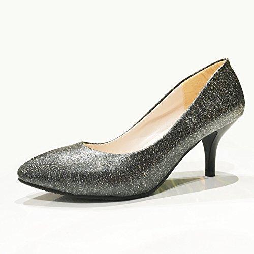 ZHZNVX L'automne de nouvelles chaussures femmes talon haut professionnelle pointe noir chaussures chaussures femmes simple