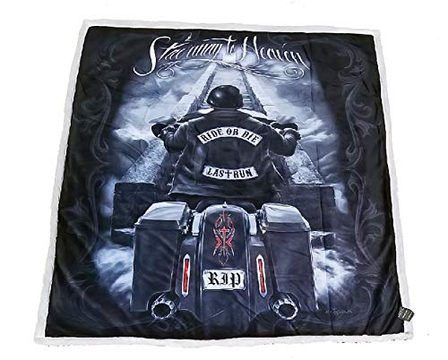 - DGA Ride or Die Day of The Dead Motorcycle High Definition Soft Plush Micro Sherpa Throw Blanket Stairway to Heaven