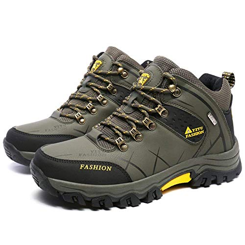 (F1rst Rate Men Hiking Boots High Top Trekking Shoes Non Slip Outdoor Climbing Sneakers(Green-1-11 US))